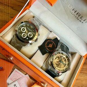 Stuhrling Men's2piece Concorso&Winchester Watchset